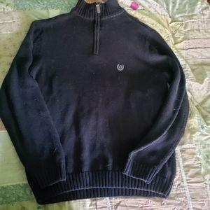 CHAPS Men's Black 100% cotton sweater Size S